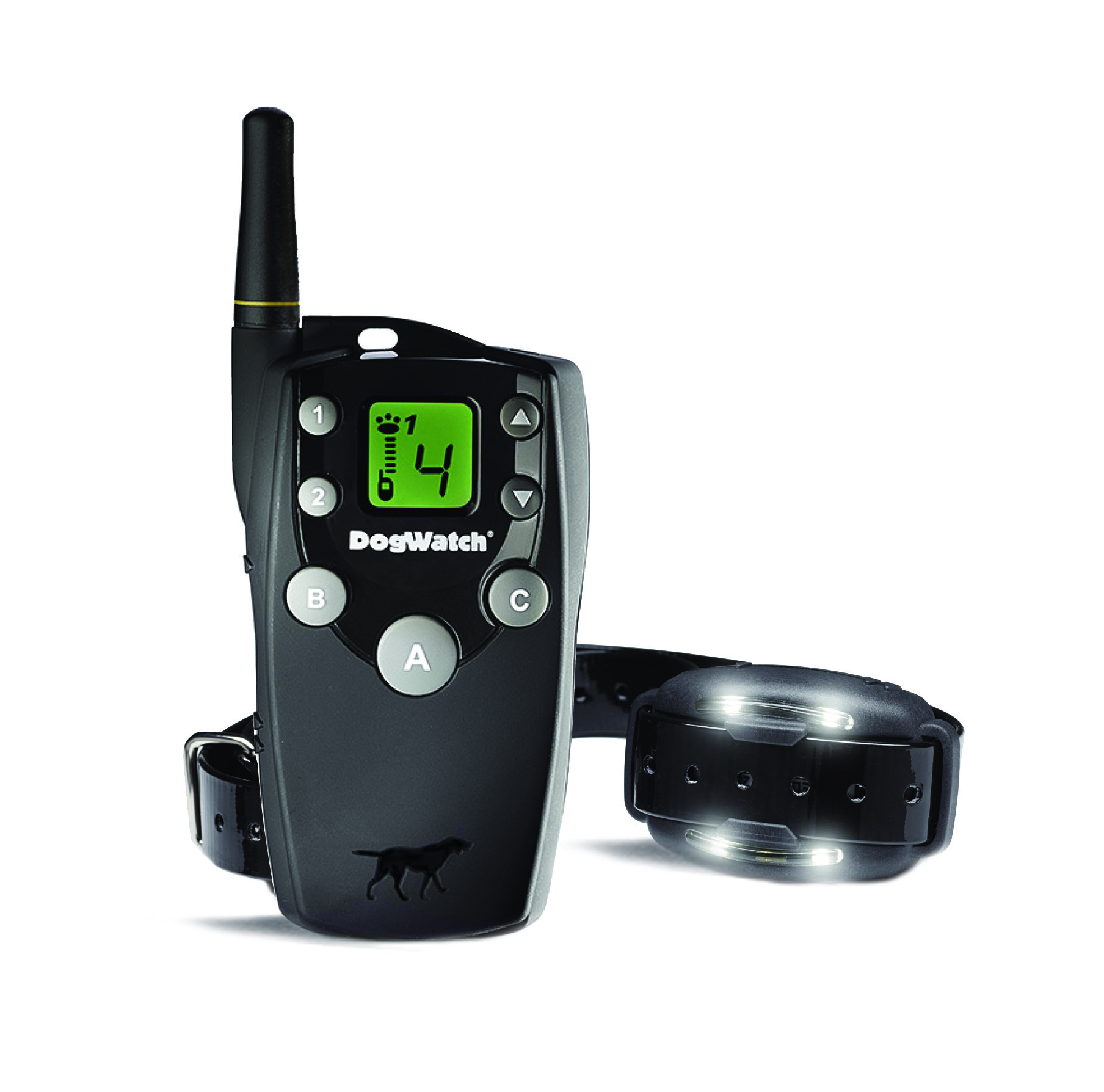 Correction remote trainer with receiver and lights